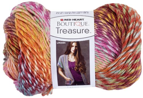 Red Heart Boutique Treasure Yarn, Abstract