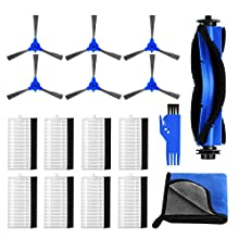 HIRALIY Replacement Parts for Eufy RoboVac 11S, RoboVac 30, RoboVac 30C, RoboVac 15T, RoboVac 15C, RoboVac 12, RoboVac 35C Vacuum Filters, Side Brushes, Rolling Brushes, Cleaning Towel