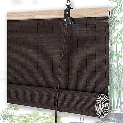 Estor Enrollable de bambú QIANDA Separador de habitación Enrollable persianas Cortina Ventana para Patio Trasero/Gazebo/Pergola/Balcón, Ancho x Alto: Amazon.es: Hogar