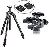 Manfrotto 190GO! Carbon Fiber Tripod W/ Twist Locks and a 405 Pro Digital Geared Head and a Bonus 2 Pack RC4 Rapid Connect Plates