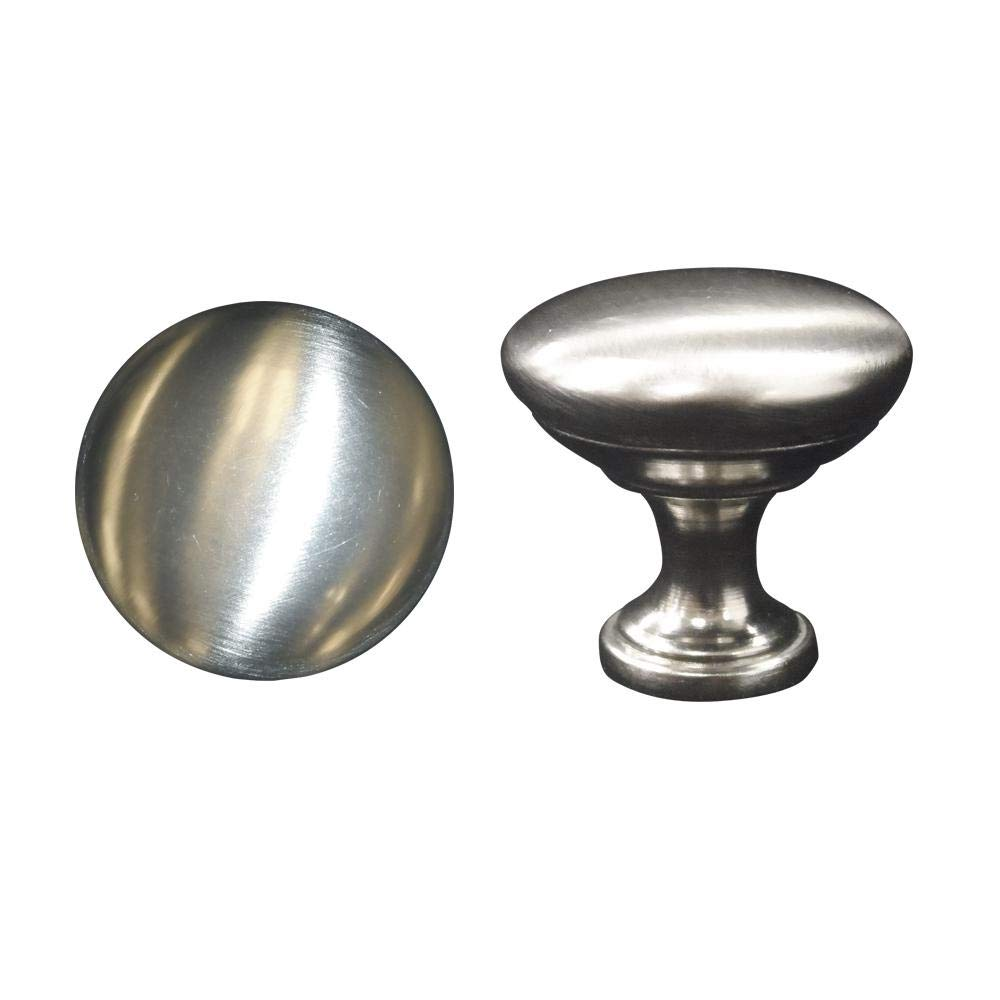 Hampton Bay Designer Series 1.125x1.125x1 in. Standard Knob in Brushed Nickel