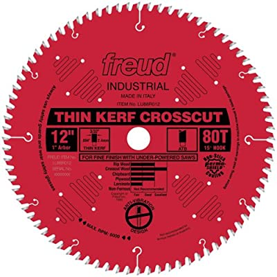 Freud LU88R008 8-Inch 48 Tooth ATB Thin Kerf Crosscutting and Ripping Saw Blade with 5/8-Inch Arbor and PermaShield Coating