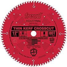 Freud LU88R012 Industrial Thin Kerf Fine Finish Crosscut Saw Blade 12 Inch x 80t ATB 1 Inch Arbor PermaShield Coated
