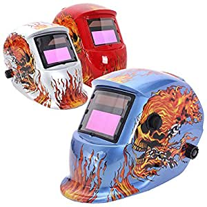 Doradus del fuego del cráneo de soldadura de oscurecimiento auto solar molienda arco casco tig mig soldadores enmascaran el color 3