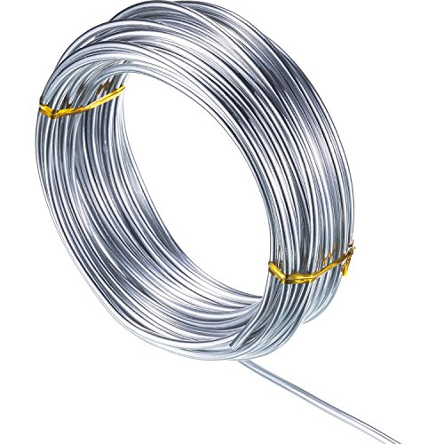 32.8 Feet Copper Aluminum Wire, Bendable Metal Craft Wire for Making Dolls Skeleton DIY Crafts (Silver, 3 mm Thickness) (Bendable Metal)