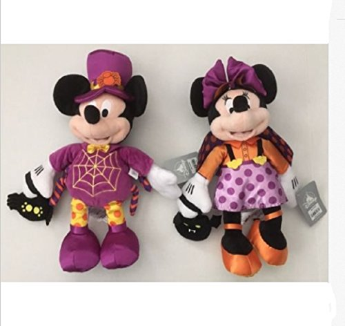 nknown DISNEY 2017 Halloween MICKEY and MINNIE Mouse PLUSH set of 2]()