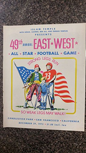 East vs West Candlestick Park Football 1973 Vintage Program J42188