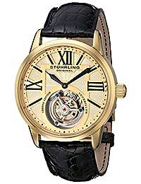 Stuhrling Original Men's 537.333X31 Tourbillon Grand Imperium Limited Edition Mechanical Gold Tone Watch