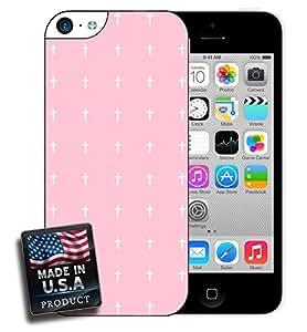 Cute Pink Minimal Crosses iPhone 5c Hard Case