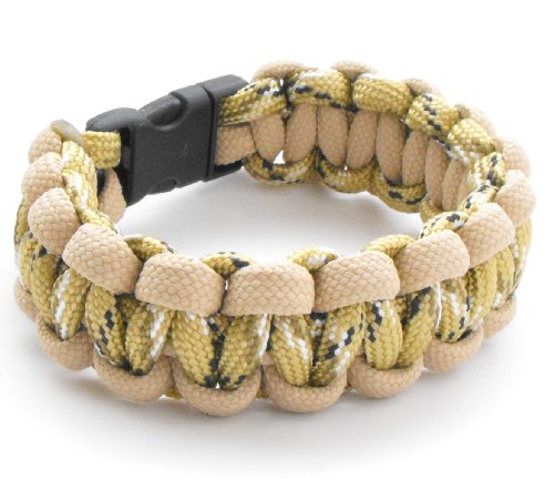 Why Should You Buy Children's / Youth 550lb Paracord Cobra Weave Bracelet with Breakaway Plastic Buc...