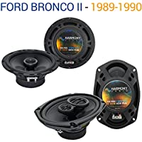 Ford Bronco II 1989-1990 Factory Speaker Upgrade Harmony R65 R68 Package New