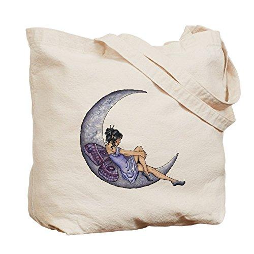 Cafepress–a Fairy Moon–Borsa di tela naturale, tessuto in iuta