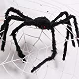 AmyHomie 50 In Giant Spider Halloween Best Hallowa's Christmas Decor, 50inch, Black