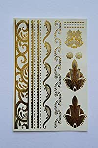 Gold & Silver Temporary Tattoos.
