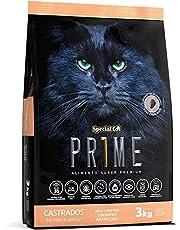 Ração Special Cat Prime Castrados para Gatos Adultos de Todas as Raças e Tamanhos sabor salmão e arroz