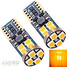LUYED 2 X 540 Lumens Extremely Bright 9-30v 3030 12-EX Chipsets Canbus W5W 194 168 2825 Led Bulbs,Amber(Brightest 194 Led On amazon)