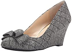 Jessica Simpson Women's Sincerely Slater Taupe Lux Kid Suede Wedge 6.5 M