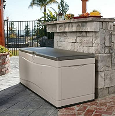 Home Storage Solutions,Plastic Deck Box, Patio Cushion Storage And Garden Tools, Large 130-Gallon