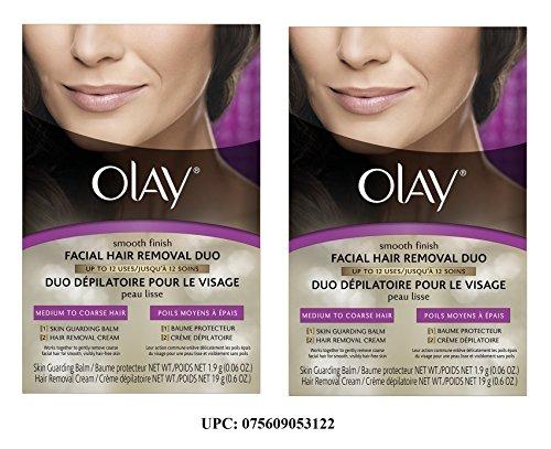 Olay lisse finition poils du visage enlèvement Duo - cheveux moyen à grossier, Pack de 2 boîte.