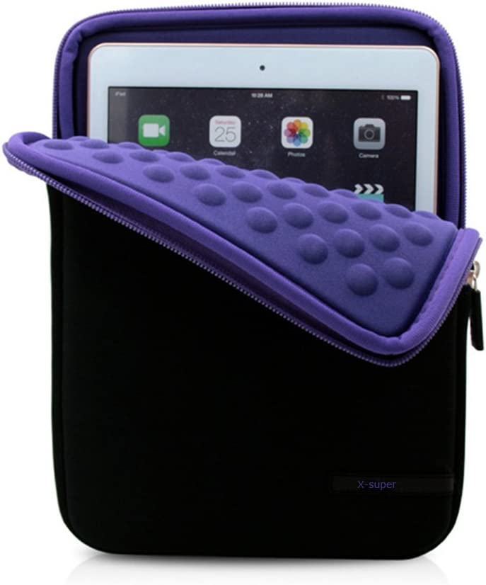 X-super Compatible Sleeve Pouch Replacement for 2017 Version iPad Pro 10.5 Shockproof Neoprene Cover Case with Accessory Pockets (purple)