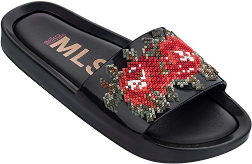 Women's Black Slide Beach Melissa Onyx Sandals wda0fq