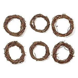 """Grapevine Wreaths 6"""" Bulk-Natural 40"""
