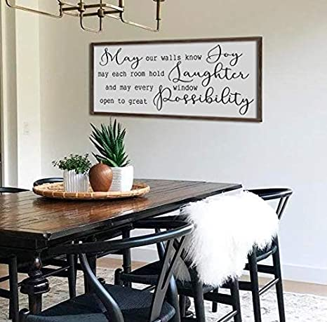Amazon.com: bawansign May Our Walls Know Joy Sign Home Wall ...