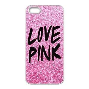 FOR Apple Iphone 5 5S Cases -(DXJ PHONE CASE)-Unique Love Pink Pattern-PATTERN 20