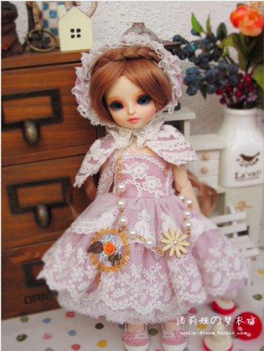 (Sakura Snow / Outfit Dress Suit 1/6 26CM YOSD BJD Dollfie / Doll Dress / 6 PCS / Pink)