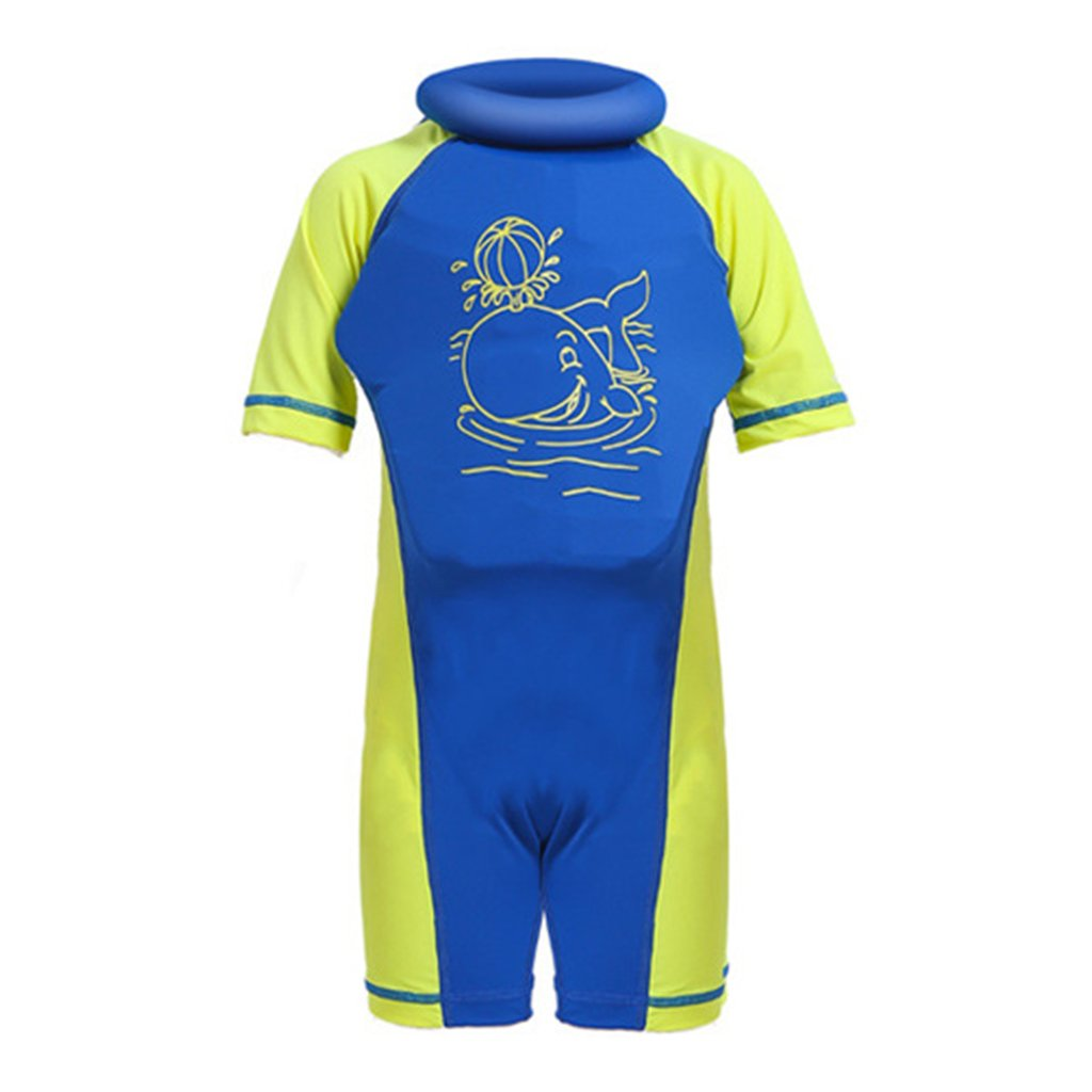 Baby Boys Girls Float Suit - Toddler Kids Floating Swimsuit Buoyancy Swimwear One-Piece Shorty Swimming Costume UV Sun Protection 1-7 Years