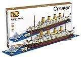 micro blocks - LOZ Building & Construction 9389 Titanic Building Blocks (1860 Pieces)