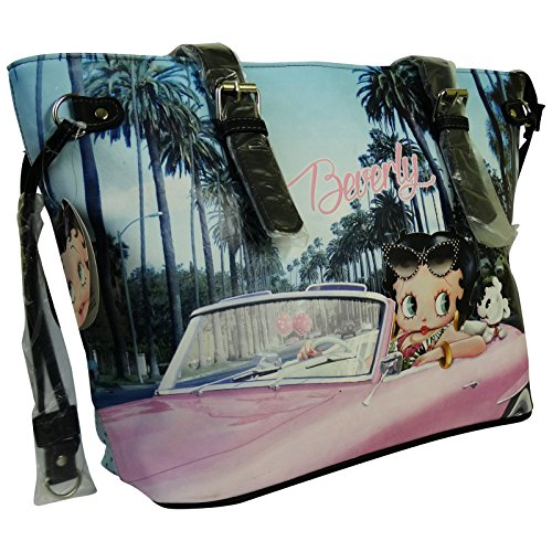 Betty Boop Beverly Borsa da Donna a Spalla Shopper Tote