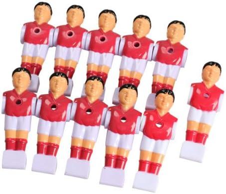 hrph Nueva 11pcs/lot Rod futbolín Fútbol Tabla futbolista Man de muñeco de jugador de piezas de repuesto, rojo: Amazon.es: Deportes y aire libre