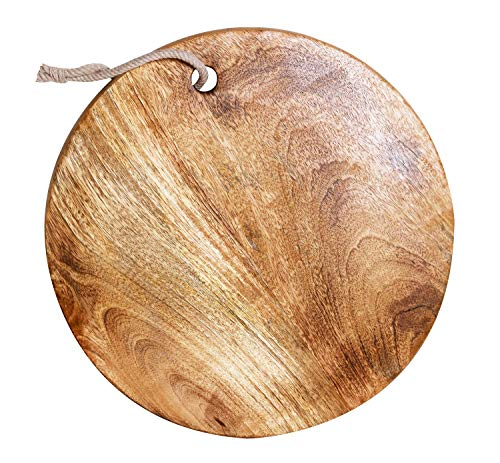 Mother's Day Gift Wooden Handmade Round Chopping Board Cutting Serving Board For Home Kitchen - 13 Inches - Round Cutting Board Bread