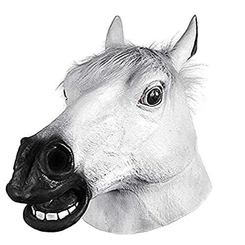 DeemoShop Full Head Mask Horse Head Mask Creepy
