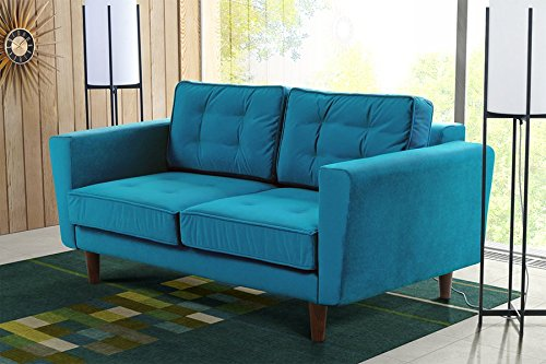 MY-Furniture LUCIENE 2-Sitzer Sofa in Genoa Pfauenblau