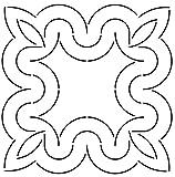 Golden Threads Curves Block Quilt Stencil, 9''