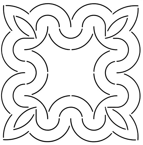 Golden Threads Curves Block Quilt Stencil, 9'' by Golden Threads