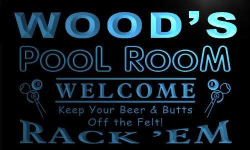 py1078-b Wood's Pool Room Rack 'em Welcome Bar Beer Neon Light Sign by AdvPro Name (Image #3)