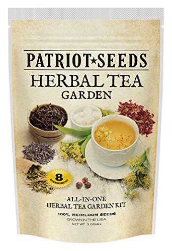Patriot Seeds 8 Variety Heirloom Seed Pack Non-GMO Herbal Tea Garden - Bergamot Herb