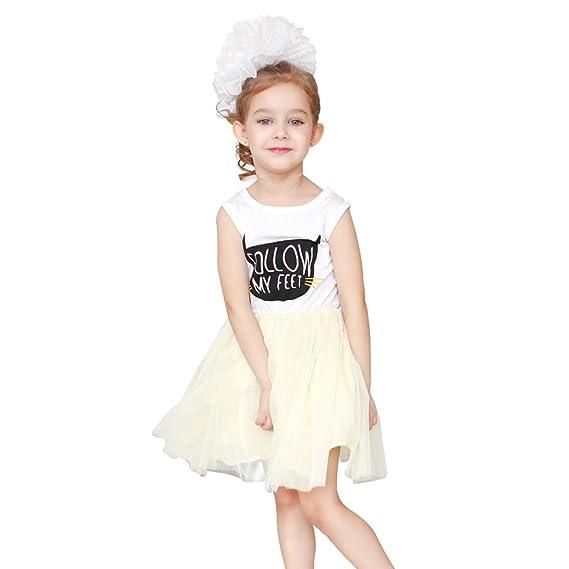 Sanlutoz Princess Tulle Vestidos Niño Vestidos de fiesta de los niños Sundress Tutu (3-