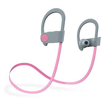 Nosterappou Auriculares inalámbricos Bluetooth mini Auriculares colgantes dobles Funcionamiento deportivo Impermeable y resistente al sudor Impactante