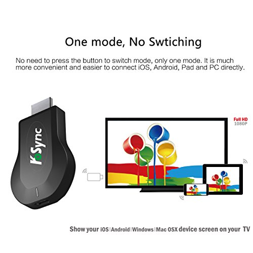 KOSYNC Wireless HDMI Dongle Wifi Display Dongle 1080P Airplay Dongle Digital AV to HDMI Connector for IOS/Android/Windows/MAC OSX Support DLNA/Airplay Mirror/Miracast/Chrome App Cast by KOSYNC (Image #2)