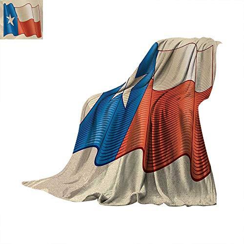 - Anhuthree Texas Star Warm Microfiber All Season Blanket Flapping Texan Flag Lone Star Pattern with Retro Effect Americana Velvet Plush Throw Blanket 90