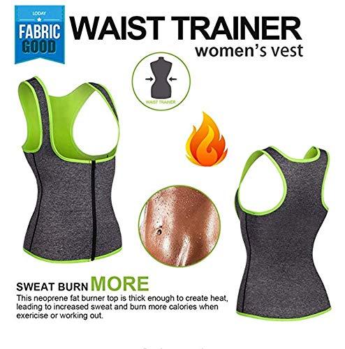 WABISABI DREAMS Chaleco Neopreno Sauna Compresion Reductora para Conseguir una Sudoraci/ón efectiva para Deporte Fitness Gris Faja Adelgazante Mujer
