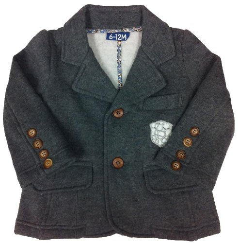 Andy & Evan The Arlington Blazer - Heather Grey-4T