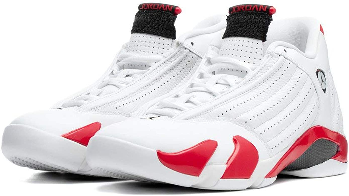buy popular ddbe5 b6076 Amazon.com   Nike Air Jordan XIV 14 Retro Candy Cane RIP Hamilton  487471-100 US Size 7 White Red   Basketball
