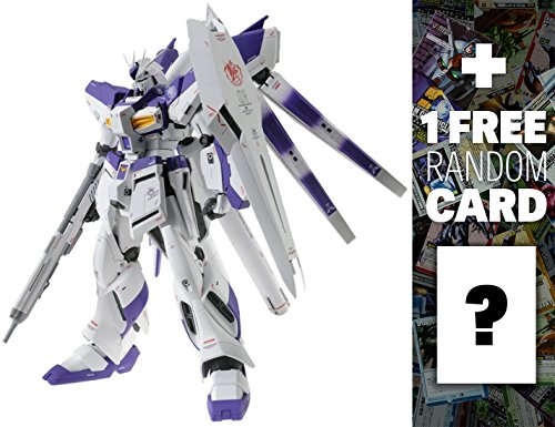 RX-93-2 Hi-Nu Gundam Version Ka: MG Gundam Master Grade 1/100 Model Kit + 1 FREE Official Gundam Japanese Trading Card Bundle (Mg Hi Nu)