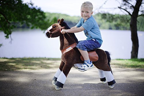 Smart Gear Pony Cycle Chocolate, Light Brown, or Brown Horse Riding Toy: 2 Sizes:  World's First Simulated Riding Toy for Kids Age 3-5 Years Ponycycle Ride-on Small from Smart Gear