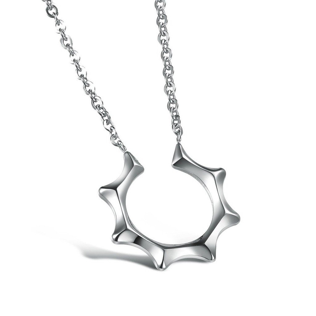 Stainless Steel Masters Sun Unisexs Couple Necklace Chain 2pcs Aooaz Jewelry